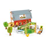 Set de joaca din lemn mini povesti - Ferma cu animale - Janod J08577