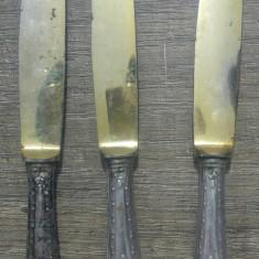 Lot 3 cutite/ maner de argint
