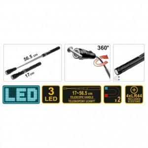 Lanterna si recuperator din aluminiu Vorel 78405, magnetica, LED, telescopica