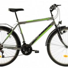 Bicicleta Oras Kreativ 2613 Gri Verde M 26 inch