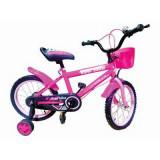 Bicicleta copii 16 inch Roz, Piccolino