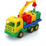 Masina salubrizare cu containere Supertruck, Plastic, Polesie