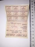 Cumpara ieftin TICHET ZAHAR / CARTELA ZAHAR 1956 - PRET PER BUCATA