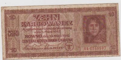 10 KARBOAVE UKRAINA-OCUPATIA GERMANA 1942/F foto