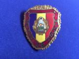 Insignă militară - Militar de frunte - variantă mare - stemă mică 1980