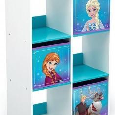 Organizator cu cadru lemn pentru carti si jucarii Copii Fun Frozen