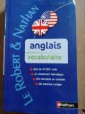Anglais vocabulaire- Le Robert & Nathan
