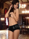 Chilot Sexy Doris Metalic - Negru, S/M