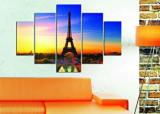 Tablou decorativ multicanvas Miracle, 5 Piese, Paris, 236MIR1910, Multicolor