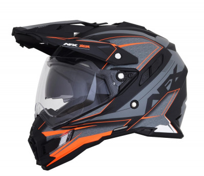 Casca Cross/ATV AFX FX-41 Eiger Dual Sport culoare gri mat portocaliu marime S Cod Produs: MX_NEW 01105355PE foto