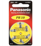 Panasonic Baterie auditiva zinc-air 1,4V 100mAh V10 HA10 PR70 PR10 6 buc