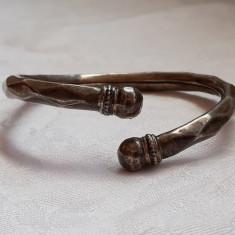 BRATARA argint INDIA RAHASTHAN reglabila VECHE de efect TRIBALA rara SPLENDIDA