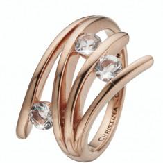 Inel Balance Love, Argint 925 placat cu aur rose de 18 K, Masura 53