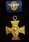 WWII Poliția Germana - Crucea 25 Ani de serviciu cl.1