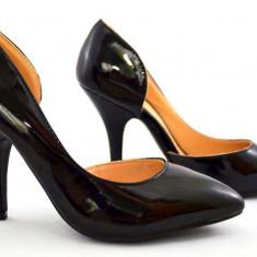 Pantofi dama negri Stiletto - toc 9 cm model Lucia 2