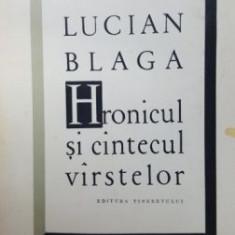 Hronicul si cantecul varstelor-Lucian Blaga