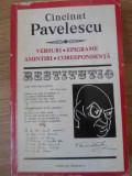 VERSURI EPIGRAME AMINTIRI CORESPONDENTA-CINCINAT PAVELESCU