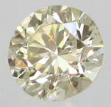 DIAMANT NATURAL GALBEN DESCHIS, 4.50 MM-0.37 CT