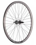 Roata Bicicleta Spate Atlas 24 507X18 Alu Dubla Argintie Natur V Brake Cnc Butuc Viteza Otel Nichelat 36H 3 8 Old13249