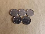 Olanda Lot 5 Monede : 10 Centi 1970 - 1979, Europa, Nichel