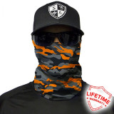 Bandana/Face Shield/Cagula/Esarfa - Orange&Grey Military Camo, SA Co. original