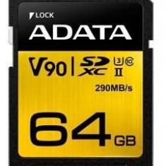 Card de memorie ADATA V90 64GB Premier ONE MicroSDXC UHS-II U3 Clasa 10