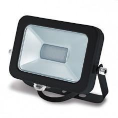 Proiector LED exterior, 6400K, 960 lumeni, 10W, IP65, lumina alb rece, carcasa neagra