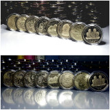 Lot 50 bani 2010-2018 Romania, necirculate, în capsule!