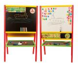 Cumpara ieftin Tabla mare de scris 2 in 1, cu accesorii - multicolora