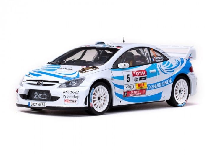 Macheta Auto Sun Star, Peugeot 307 WRC - #5 S.Sarrazin/J.Renucci 1:18