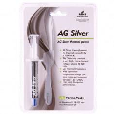 Pasta termoconductoare pe baza de argint Silver AG, 3.8W/mK, 3 grame