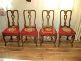 Unicat! Scaune Bidermeyer tapitate broderie englezeasca stil Victorian