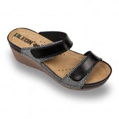 Papuci medicali Leon 1040 negru – dama