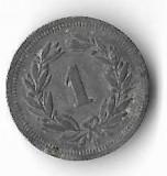 Moneda 1 rappen 1942 - Elvetia