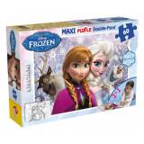 Cumpara ieftin Puzzle de colorat maxi, Anna si Elsa, 60 piese