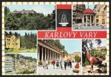 CEHOSLOVACIA - KARLOVY VARY - LAZENSKE - COLAJ - CP CIRCULATA #colectosfera