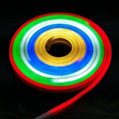 Furtun luminos LED SMD 25W, lungime 5 metri, alimentare retea, multicolor