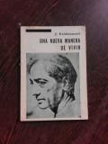 UNA NUEVA MANERA DE VIVIR - J. KRISHNAMURTI (CARTE IN LIMBA SPANIOLA)