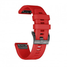 Curea silicon Tech-Protect Smooth Garmin Fenix 3/5X/3HR/5X Plus/6X/6X Pro Red