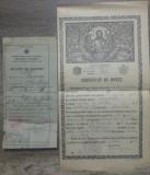 Buletin de nastere + Certificat de botez// Bucuresti, anii '40