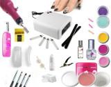Cumpara ieftin Kit Start 7 Geluri Uv unghii + Lampa Uv + Freza unghii