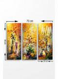 Tablou decorativ, Marvellous, 537MRV5157, 3 piese, 70 x 50 cm, MDF, Multicolor