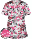 "Bluza medicala ""Pink ribbon flower"" (TS428PIR)"