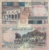 1986 , 20 shilin soomaali / somali shillings ( P-33b ) - Somalia