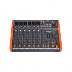 Mixer DJ Ibiza, 8 canale cu egalizator, efecte si USB