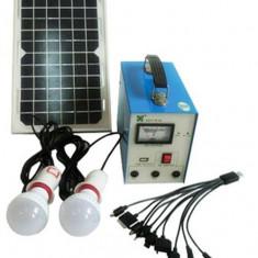 KIT SOLAR PROFESIONAL,ENERGIE SOLARA,SCOATE 12V CURENT,PANOU SOLAR,2 BECURI LED