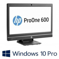 Calculatoare all in one Refurbished HP ProOne 600 G1, i5-4570S, Win 10 Pro