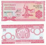 Burundi 20 Francs 2005 UNC
