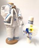 Cumpara ieftin Set Botez Traditional Raul 13 2 piese costumas traditional si lumanare botez Traditional