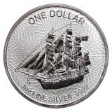 Moneda argint 999 lingou corabia Bounty 1 uncie = 31 grame